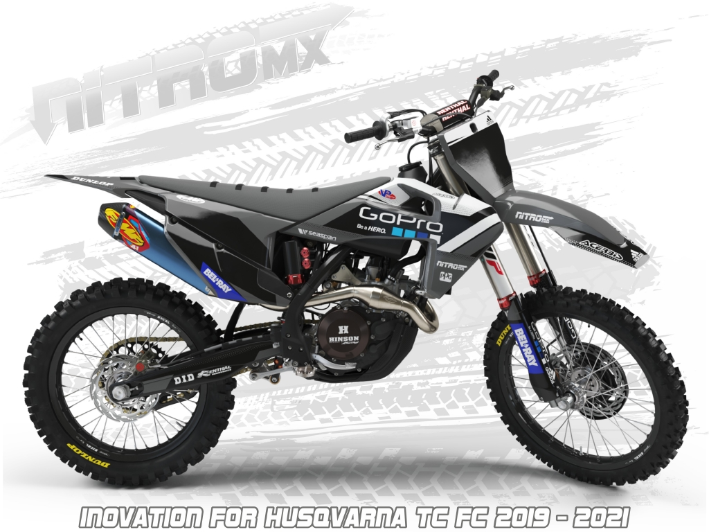 Revo Husqvarna Graphics Kit TC FC 125 250 350 450 2019-2020 Motocross Husky