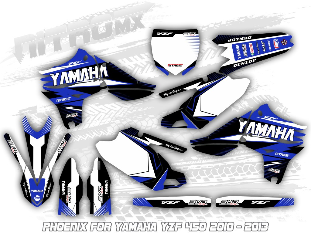 Yamaha Yzf 450 2010 2011 2012 2013 Graphics Decals Design Stickers Motocross Mx Ebay