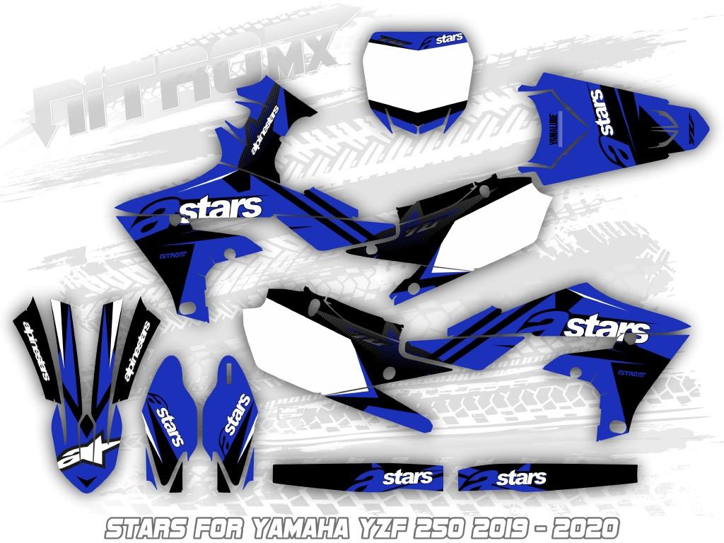 Nitromx Yamaha Yzf 250 2019 2020 Graphics Kit Decals Design Stickers Motocross Ebay